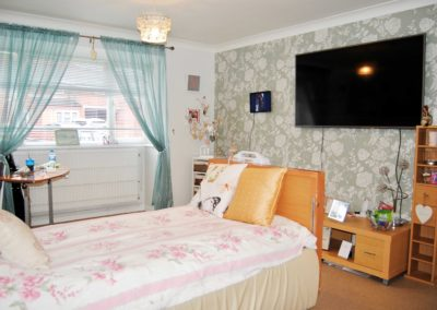 Personalised bedroom at Beech house